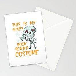 Lustiges Skelett Bücherwurm Kostüm Design für Halloween design Stationery Cards