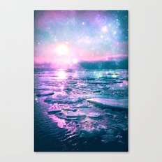 Mystic Waters Vibrant Pink Blue Lavender Canvas Print