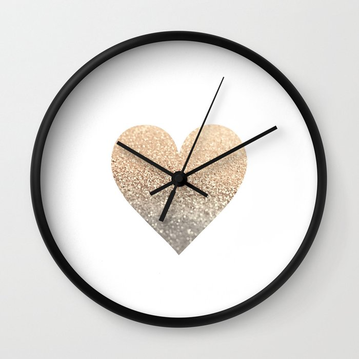 Gold Heart Wall Clock By Monikastrigel Society6