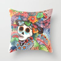 lee pace Throw Pillows featuring Social Pace by Adrienne S. Price