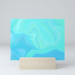 Sea Tones Marble Watercolor Mini Art Print