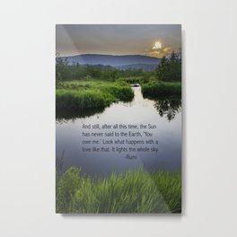 Rumi Sun Quote Metal Print