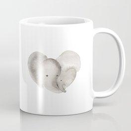 Elephant Mama and Baby Coffee Mug