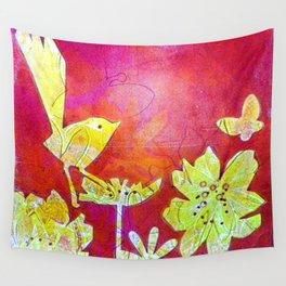 Little Yellow Bird Wall Tapestry