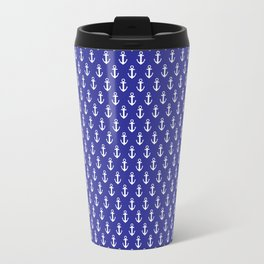 Blue Anchor Pattern Travel Mug