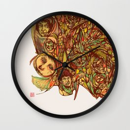 Somebody's Family Portrait Wall Clock