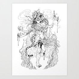 Madam Yaguar Art Print
