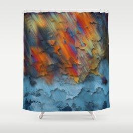 Diagonal Rainbow Redux Shower Curtain