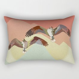 Two flying eagles Rectangular Pillow