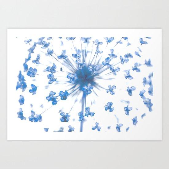 Flower Ball in Baby Blue Art Print
