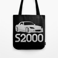 honda Tote Bags featuring Honda S2000 - silver - by Vehicle