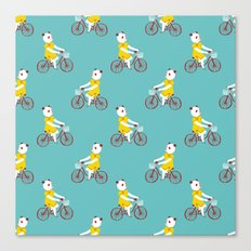 Panda on a bike Canvas Print