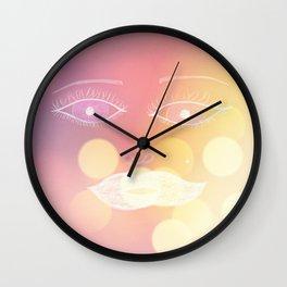 Eye Lights Wall Clock