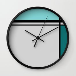 Cross Lines in turquoises Wall Clock