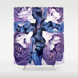 When the muse appears to you Shower Curtain