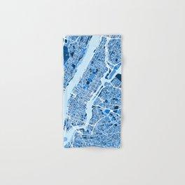 New York City Street Map Hand & Bath Towel