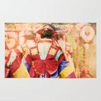 "korean Area & Throw Rugs featuring culture Photography ""KOREAN DANCER"" by FarbCafé"