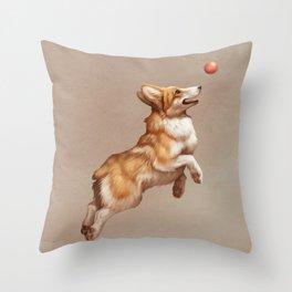 Catch the ball Throw Pillow