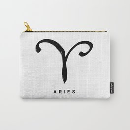 KIROVAIR ASTROLOGICAL SIGNS ARIES #astrology #kirovair #symbol #minimalism #home #decor Carry-All Pouch