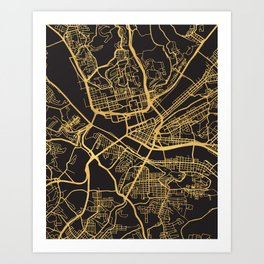 Pittsburgh Map Art Prints For Any Decor Style Society6