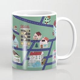 Little Town Pattern Coffee Mug