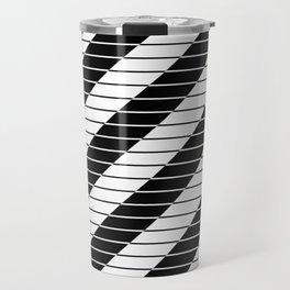 Simply Black And White (Abstract, geometric design) Travel Mug
