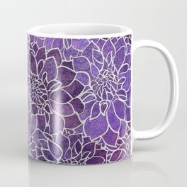 Dahlia Flower Pattern 3 Coffee Mug
