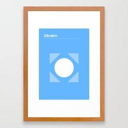 Altruism Framed Art Print