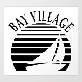 Bay Boat Lines Art Print
