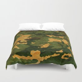 Camouflage Muster Grunge Duvet Cover