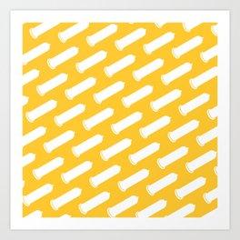 LYC Condom Pyjama Top - Yellow Art Print