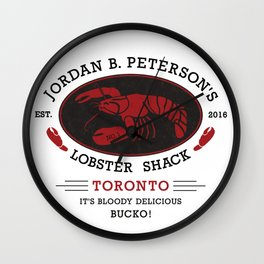 Jordan Peterson Lobster Shack Wall Clock