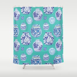 Chinoiserie Ginger Jar Collection No.5 Shower Curtain