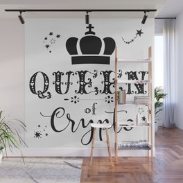 Queen of Crypto Wall Mural