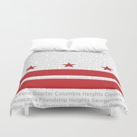 dc Duvet Covers featuring DC Forever by Brandon Funkhouser