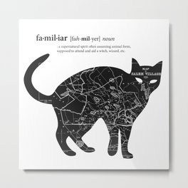 A Familiar Black Cat Metal Print