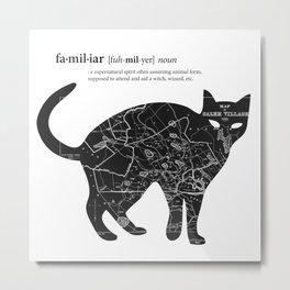 A Familiar Black Cat Metal Print