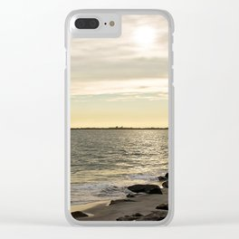 Sunset and the Lighthouse Clear iPhone Case