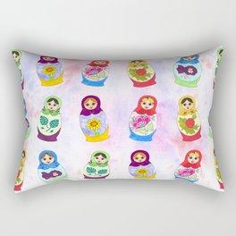 Adorable Russian Dolls Rectangular Pillow