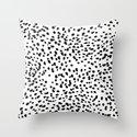 Nadia - Black and White, Animal Print, Dalmatian Spot, Spots, Dots, BW by charlottewinter