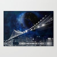 new york city Canvas Prints featuring New!! New York City by Simone Gatterwe