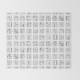 Cryptoglyphs Throw Blanket