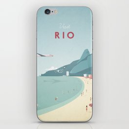Vintage Rio Travel Poster iPhone Skin