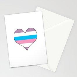 Intersex Heart v1 Stationery Cards