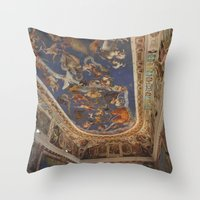 baroque Throw Pillows featuring Baroque by Lorenzo Bini