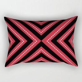 series 1 Red Rectangular Pillow