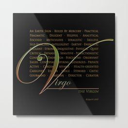 Sign Language for Virgo Metal Print