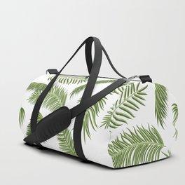 Green palm tree leaves Duffle Bag