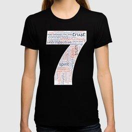 Life Path 7 (black background) T-shirt