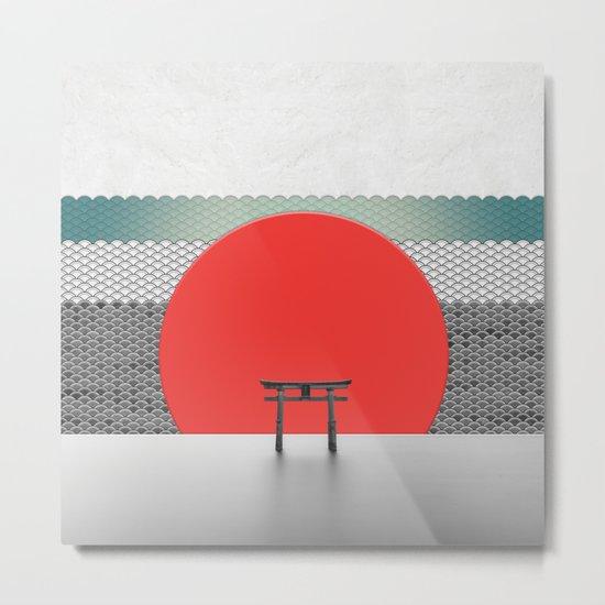 The Red Sun Metal Print